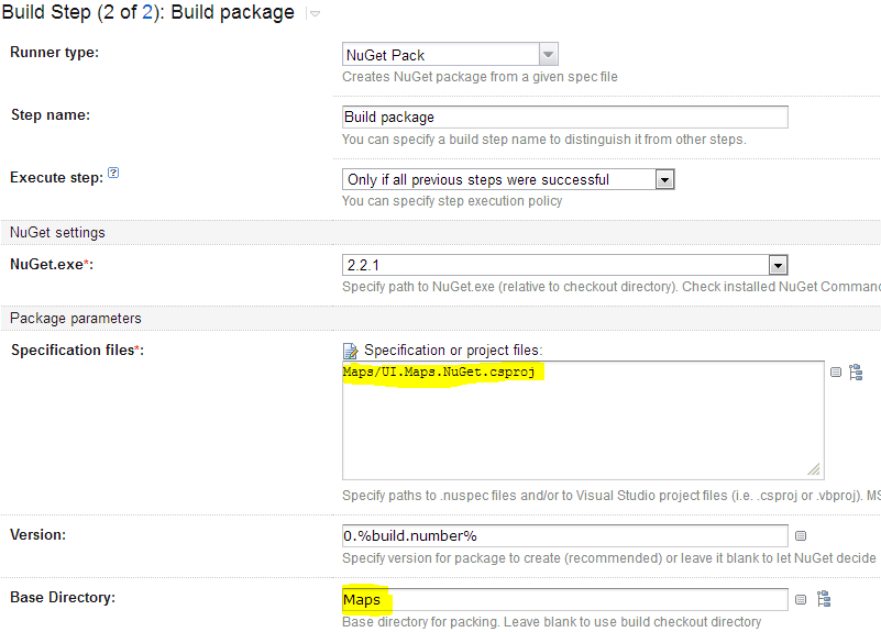 NuGet build step